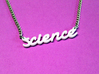 Science Text Necklace 3d printed