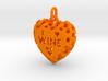 Heart Pendant I Love Wine 3d printed