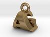 3D Monogram Pendant - AGF1 3d printed