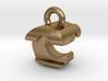 3D Monogram Pendant - CTF1 3d printed