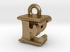 3D Monogram Pendant - EPF1 3d printed