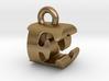 3D Monogram Pendant - EOF1 3d printed
