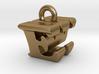 3D Monogram Pendant - EWF1 3d printed