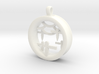 Shikigami Standing Paper Bird Pendant 3d printed