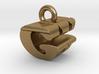 3D Monogram Pendant - GWF1 3d printed