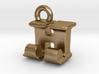 3D Monogram Pendant - HJF1 3d printed
