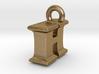3D Monogram Pendant - IHF1 3d printed