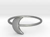 Moon Midi Ring 16mm inner diameter by CURIO 3d printed