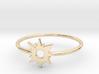 Sun Midi Ring 16mm inner diameter by CURIO 3d printed