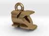 3D Monogram Pendant - KQF1 3d printed