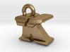 3D Monogram Pendant - KTF1 3d printed