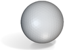 uncomplete 3-D Golf Ball 3d printed