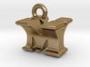 3D Monogram Pendant - MYF1 3d printed