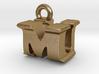 3D Monogram Pendant - MUF1 3d printed