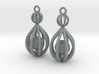 Cage Drop Earrings 3d printed