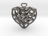 Heart Charm Necklace 3d printed