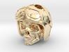 "Easy Rider Skull Pendant ""Silver"" 3d printed"