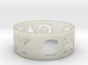 Carry On Ring (Size 10) 3d printed