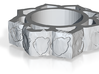 silver pendant 3d printed