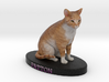 Custom Cat Figurine - Patton 3d printed