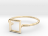 Open Square Ring Sz. 5 3d printed
