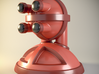 'Robust' robot bust design, model M7-002 3d printed 3D render with a metallic finish