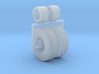 1:64 4 Rib 11.00-16 front tractor tires and wheels 3d printed
