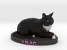 Custom Cat Figurine - Lilac 3d printed