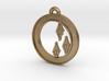 Rarity Cutie-mark Circle-pendant 3d printed