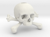 35mm 1.4in Keychain Skull & Bones Bead 3d printed