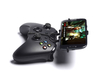 Xbox One controller & Plum Check Plus 3d printed Side View - A Samsung Galaxy S3 and a black Xbox One controller
