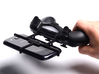 PS4 controller & Celkon Q455 3d printed In hand - A Samsung Galaxy S3 and a black PS4 controller