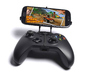 Xbox One controller & Samsung Galaxy S5 (octa-core 3d printed Front View - A Samsung Galaxy S3 and a black Xbox One controller