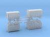 German Wehrmacht Trailers Set 1 1/285 6mm 3d printed