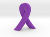 Standing Cancer Ribbon - Customizable 3d printed