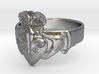 NOLA Claddagh, Ring Size 13 3d printed