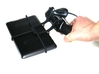 Xbox 360 controller & BlackBerry PlayBook 2012 3d printed In hand - A Nexus 7 and a black Xbox 360 controller