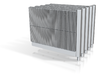 Beton-Schallschutzwand mit Pfeiler 5x einzelne 3d printed
