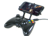 Xbox 360 controller & HTC P3350 3d printed Front View - A Samsung Galaxy S3 and a black Xbox 360 controller