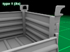 Stackable Container Type1 (3x) 3d printed Container type 1 - 3-pack - movable front lid