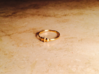 Elleve Ring US Size 8 UK Size Q 3d printed Gold Plated Brass