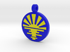 'Sunrise' Jewelry Pendant in Sandstone 3d printed