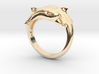 Dolphin Ring Size US 7  3d printed