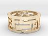 Labyrinth ring: size 8 (US) Q (UK) 3d printed