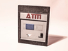 "Contemporary ATM for 7"" Figures 3d printed Here shown in full color sandstone"