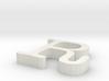 R Letter 3d printed