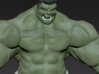 Hulk figure with nice details 3d printed