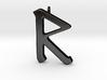 Rune Pendant - Rād 3d printed