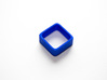 Poly4 Ring, Size US5 3d printed The Poly4 Ring in Blue Strong & Flexible