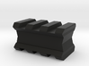 Back-to-Back 3-Slots Picatinny Rails Adapter 3d printed